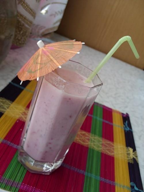 Клубнично-молочный напиток - Фоторецепты.RU - Большая фотография рецепта.
